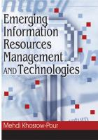 Cover image for Emerging information resources management and technologies