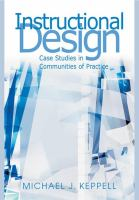 Cover image for Instructional design : case studies in communities of practice