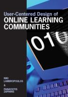 Cover image for User-centered design of online learning communities