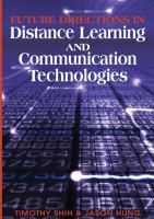 Cover image for Future directions in distance learning and communications technology