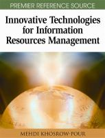 Cover image for Innovative technologies for information resources management