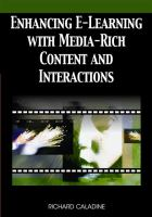 Cover image for Enhancing e-learning with media-rich content and interactions