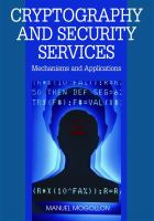 Cover image for Cryptography and security services : mechanisms and applications