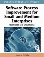 Cover image for Software process improvement for small and medium enterprises : techniques and case studies