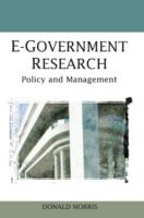 Cover image for E-government research : policy and management