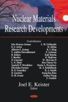 Cover image for Nuclear materials research developments