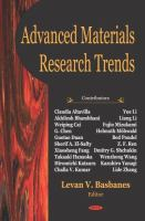 Cover image for Advanced materials research trends