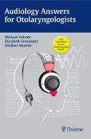Cover image for Audiology answers for otolaryngologists