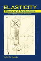Cover image for Elasticity : theory and applications