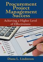 Cover image for Procurement project management success : achieving a higher level of effectiveness