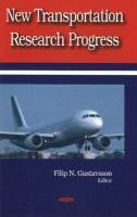Cover image for New transportation research progress
