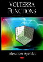 Cover image for Volterra functions
