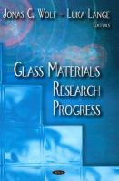 Cover image for Glass materials research progress