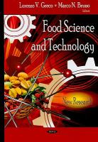 Cover image for Food science and technology : new research