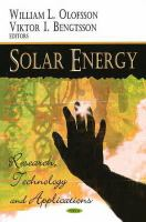 Cover image for Solar energy : research, technology and applications