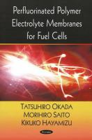 Cover image for Perfluorinated polymer electrolyte membranes for fuel cells