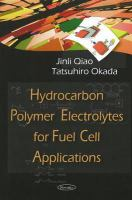 Cover image for Hydrocarbon polymer electrolytes for fuel cell applications