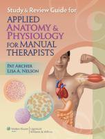 Cover image for Study and review guide for applied anatomy and physiology for manual therapists