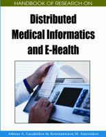 Cover image for Handbook of research on distributed medical informatics and e-health