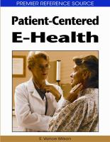 Cover image for Patient-centered e-health