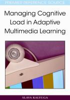 Cover image for Managing cognitive load in adaptive multimedia learning