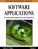 Cover image for Software applications : concepts, methodologies, tools, and applications