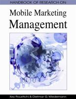 Cover image for Handbook of research on mobile marketing management