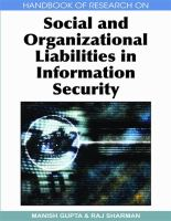 Cover image for Handbook of research on social and organizational liabilities in information security