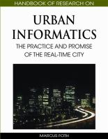 Cover image for Handbook of research on urban informatics : the practice and promise of the real-time city