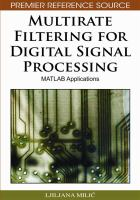 Cover image for Multirate filtering for digital signal processing :bMATLAB applications