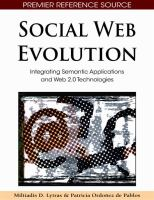 Cover image for Social web evolution : integrating semantic applications and Web 2.0 technologies
