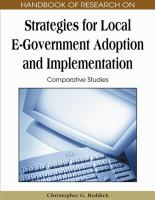 Cover image for Handbook of research on strategies for local e-government adoption and implementation : comparative studies