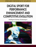 Cover image for Digital sport for performance enhancement and competitive evolution : intelligent gaming technologies