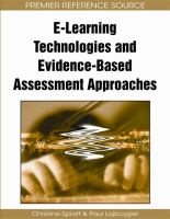 Cover image for E-learning technologies and evidence-based assessment approaches