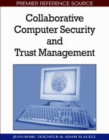 Cover image for Collaborative computer security and trust management