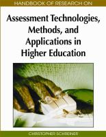 Cover image for Handbook of research on assessment technologies, methods, and applications in higher education