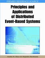 Cover image for Principles and applications of distributed event-based systems