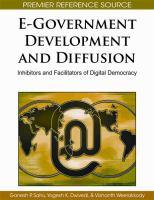 Cover image for E-government development and diffusion : inhibitors and facilitators of digital democracy