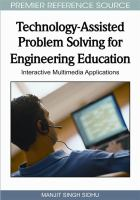 Cover image for Technology - assisted problem solving for engineering education : interactive multimedia applications