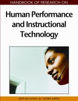 Cover image for Human performance and instructional technology