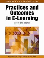 Cover image for Handbook of research on practices and outcomes in e-learning : issues and trends