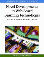 Cover image for Novel developments in web-based learning technologies : tools for modern teaching
