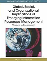 Cover image for Global, social, and organizational implications of emerging information resources management : concepts and applications