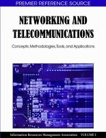Cover image for Networking and telecommunications : concepts, methodologies, tools, and applications