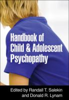 Cover image for Handbook of child and adolescent psychopathy