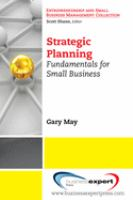 Cover image for Strategic planning : fundamentals for small business
