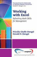 Cover image for Working with Excel : refreshing math skills for management