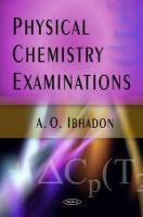 Cover image for Physical chemistry examinations