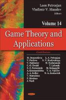 Cover image for Game theory and applications