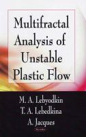 Cover image for Multifractal analysis of unstable plastic flow